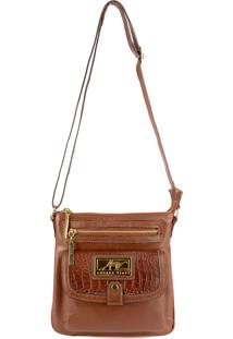 Bolsa Pequena Tiracolo De Couro Anny Whisky Marrom