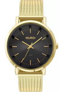 Relógio Feminino Euro Eu2035Ymx/4P 42Mm Aço - Feminino-Dourado