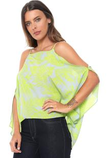 Blusa Morena Rosa Off Shoulder Cinza
