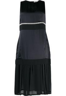 3.1 Phillip Lim Vestido Midi Com Recorte Translúcido - Preto