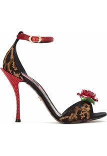 Dolce & Gabbana Sandália Bordada Com Aplicação - Estampado