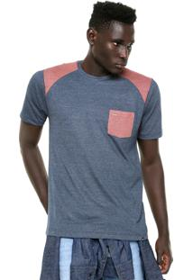 Camiseta Hurley Clf Azul/Caramelo