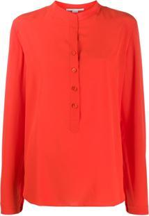 Stella Mccartney Long-Sleeve Button-Down Blouse - Vermelho