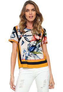 Camiseta Forum Estampada Off-White/Azul