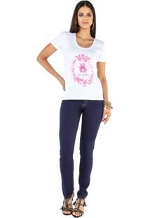T-Shirt Camiseta Latifundio Queen Bee Branco - Branco - Feminino - Dafiti