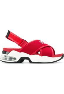 Karl Lagerfeld Sandália Com Tiras Cruzadas - Vermelho