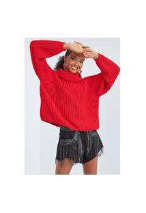 Blusa Reta Com Gola Lança Perfume Blusa Vermelho