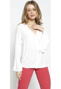 Camisa Lisa Com Tag - Off White - Colccicolcci