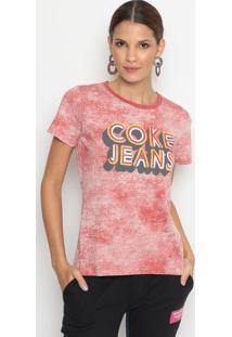 Blusa Estonada Com Termocolantes- Vermelha & Amarelacoca-Cola