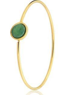 Pulseira Toque De Joia Bracelete Fio Círculo Grande - Feminino-Dourado