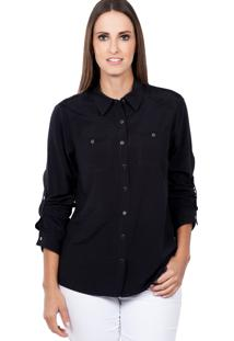 Camisa Love Poetry Bolso Preto