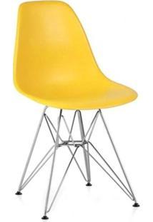 Cadeira Eames Eiffel - Base Inox (Inoxidável) - Amarelo
