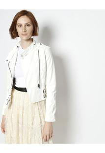 Jaqueta Com Zíper- Branca- Jô Fashionjô Fashion