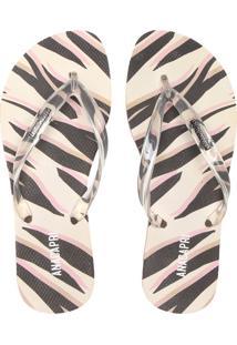 Chinelo Anacapri Zebra Cinza