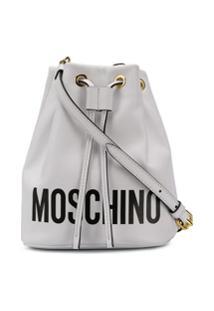 Moschino Bolsa Saco Com Logo - Branco
