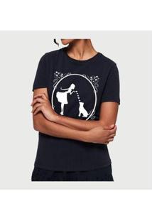 Camiseta Dog Mom Buddies Feminina - Feminino-Preto