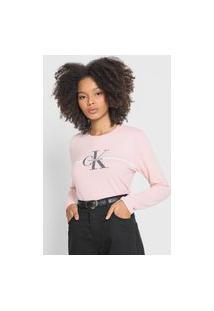 Blusa Calvin Klein Jeans Logo Rosa