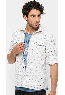 Camisa Triton Mini Print Bolsos Masculina - Masculino