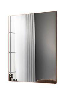 Espelho Decorativo Retangular Com Moldura Shine D09 Cobre Rosê - Mpoze