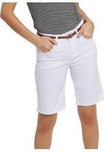 Bermuda Feminina Sarja Marisa - Feminino-Branco
