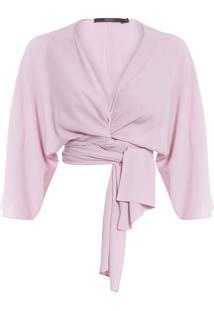 Blusa Feminina Laço - Rosa
