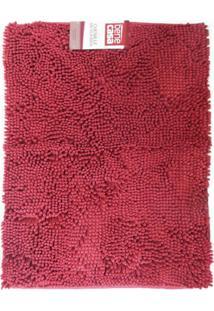 Tapete Chenille Microfibra - Bene Casa - Vermelho