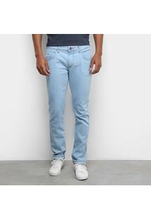 Calça Jeans Slim Forum Gilmar Masculina - Masculino-Azul
