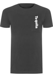 Camiseta Masculina Drinks Tequila - Preto