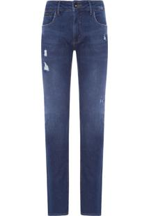 Calça Jeans Masculina Skinny Five Pockets - Azul