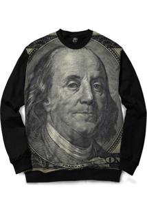 Blusa Bsc Benjamin Franklin Full Print - Masculino