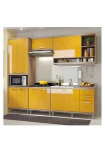 Cozinha Completa Multimóveis Com 5 Peças Sicília 5808 Argila/Amarelo