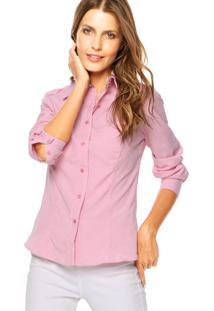 Camisa Angel Seven Listrada Rosa/Branco