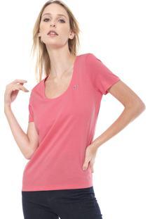 Camiseta Lacoste Logo Rosa