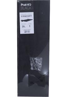Prateleira De Madeira Pratk Concept Preta 20X60Cm
