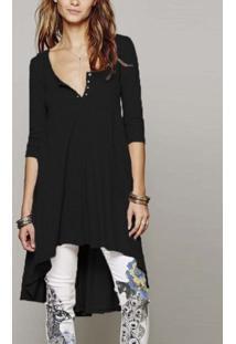 Vestido Blusão Assimétrico