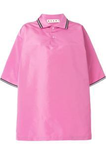 Camisa Pólo Rosa feminina  40eca8323fc2b
