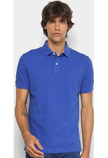 Camisa Polo Tommy Hilfiger Básica Masculina - Masculino-Azul Royal