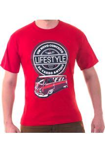 Camiseta Ferrugem Br Kombi Lifestyle Vermelha