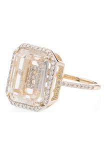 Mateo Anel De Ouro 18K Com Diamante - Gold