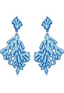 Brinco Le Diamond Corais Azul