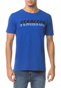 Camiseta Ckj Mc Est Fearless - Azul Médio - Pp