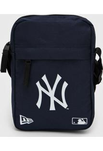 Bolsa New Era Shoulder Bag New York Yankees Azul-Marinho - Azul Marinho - Dafiti
