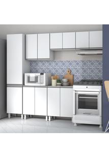 Cozinha Compacta 12 Portas Bkc01 Branco - Brv Móveis