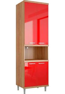 Módulo Para Forno 5117 Sicília - Multimóveis - Argila Acetinado / Vermelho Scarlet