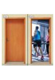 Adesivo Decorativo De Porta - Academia - Fitness - 1746Cnpt