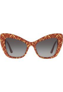 c9eb5fd3d6f9e Okulos. Óculos De Sol Dolce E Gabanna Feminino Unissex Degradê Cinza  Estampado 32068g   54 Gabbana Dg4349 Tam Lente
