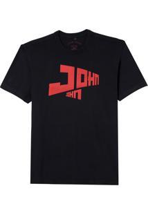 Camiseta John John Rg John Moscow Masculina (Preto, Gg)