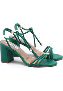 Sandália Bebecê Amarração Verde Verde