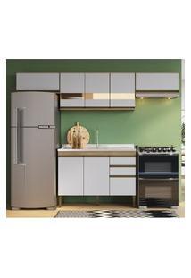 Cozinha Compacta Casablanca Casa Mia A3495 Mel E Off White