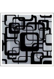 Lustre Plafon Para Sala / Cozinha / Banheiro /Quarto 30 Cm X 30 Cm Geométrico Preto